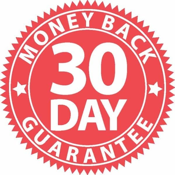 30 Day Money Back Guarantee Red Sign, Vector Illustration
