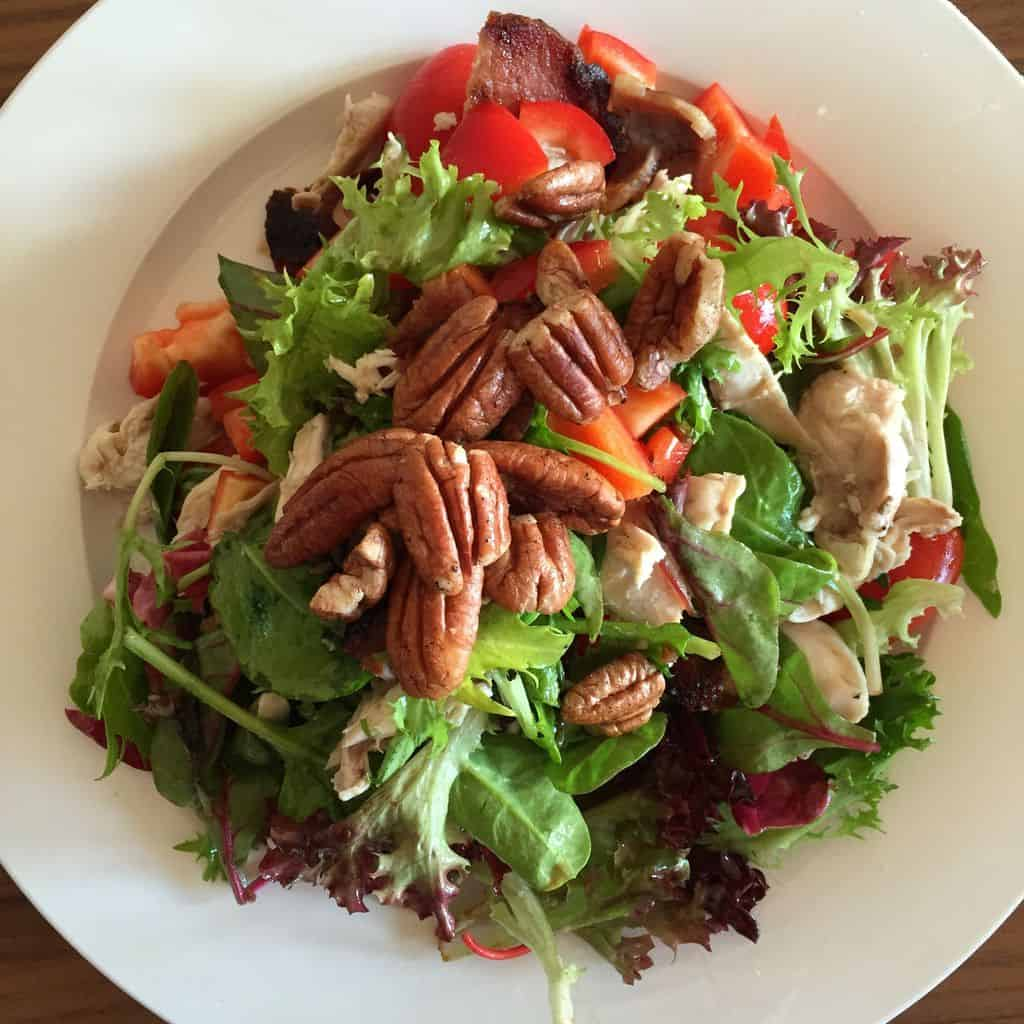Rebecca Coomes Recipes Chicken Bacon And Peacan Salad