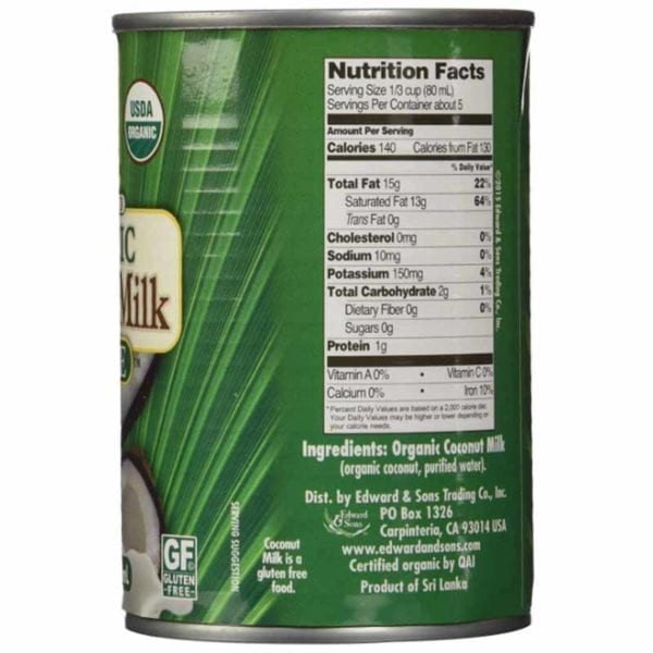 Native Forest Unsweetened Coconut Milk Ingredients