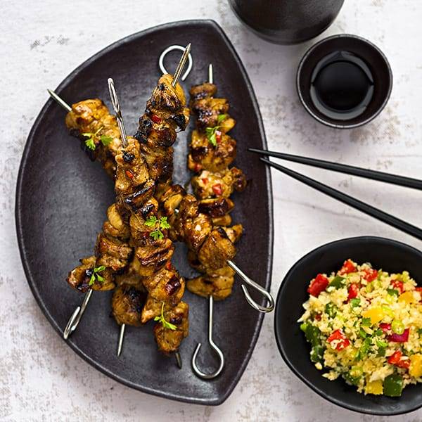 Rebecca Coomes The Healthy Gut Chicken Yakitori Skewers recipe