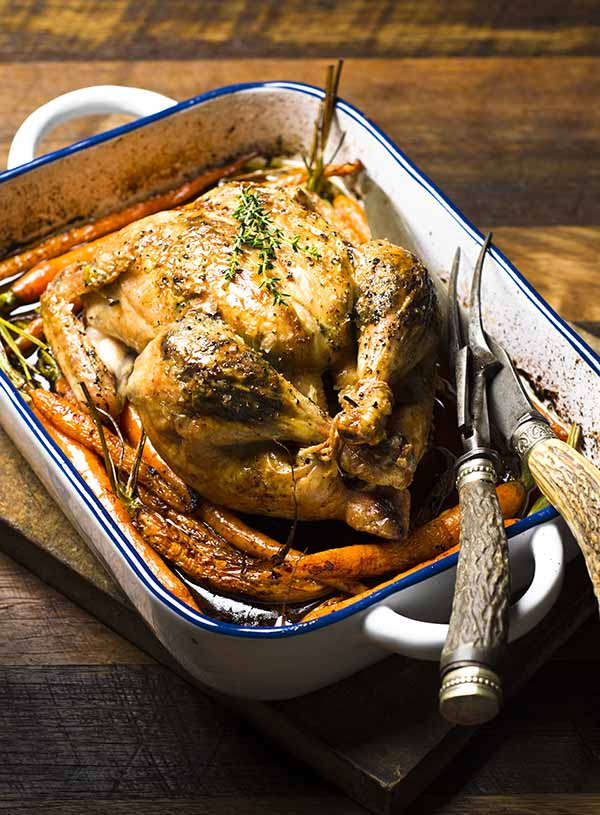 Rebecca Coomes The Healthy Gut Blog Recipe for Succulent Lemon Thyme Roast Chicken