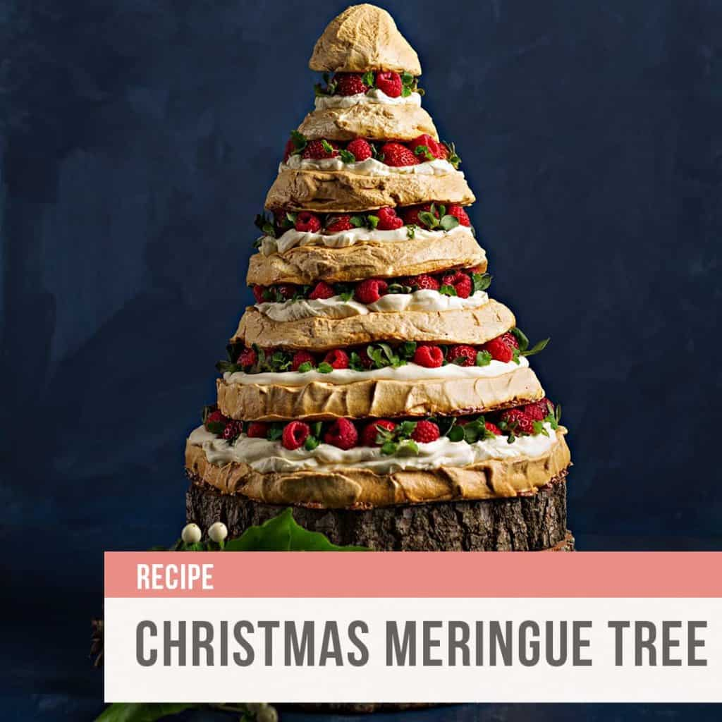 Rebecca Coomes the healthy gut blog Christmas meringue tree recipe