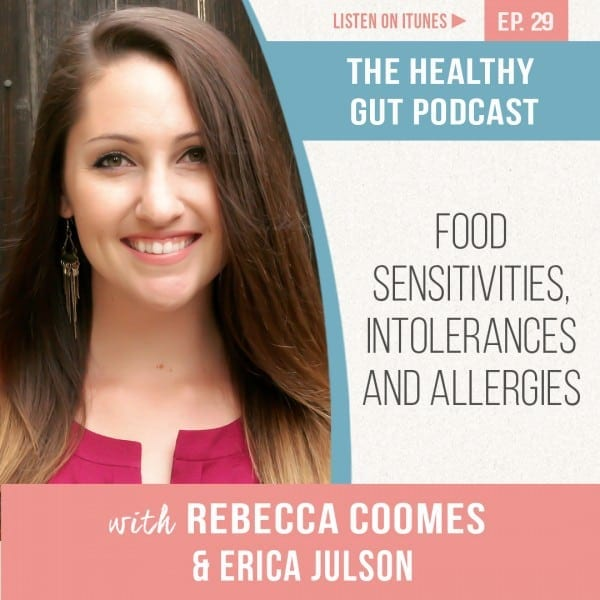 Rebecca Coomes The Healthy Gut with Erica Julson on Food sensitivities, intolerances and allergies