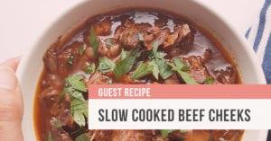 Slow cooked beef cheeks recipe