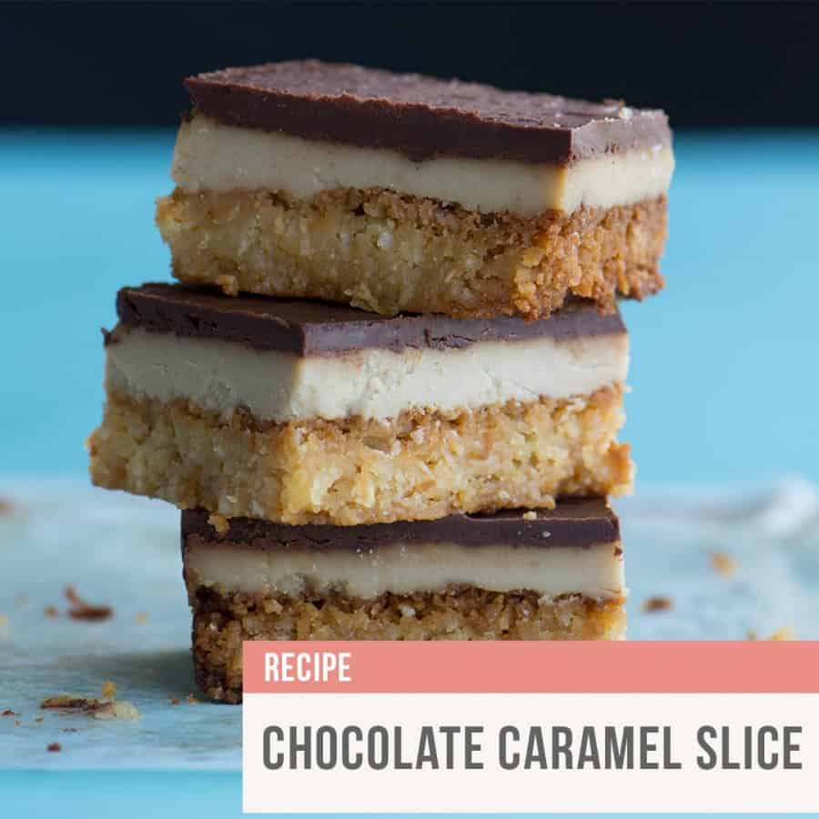 Rebecca Coomes The Healthy Gut Chocolate Caramel Slice Blog