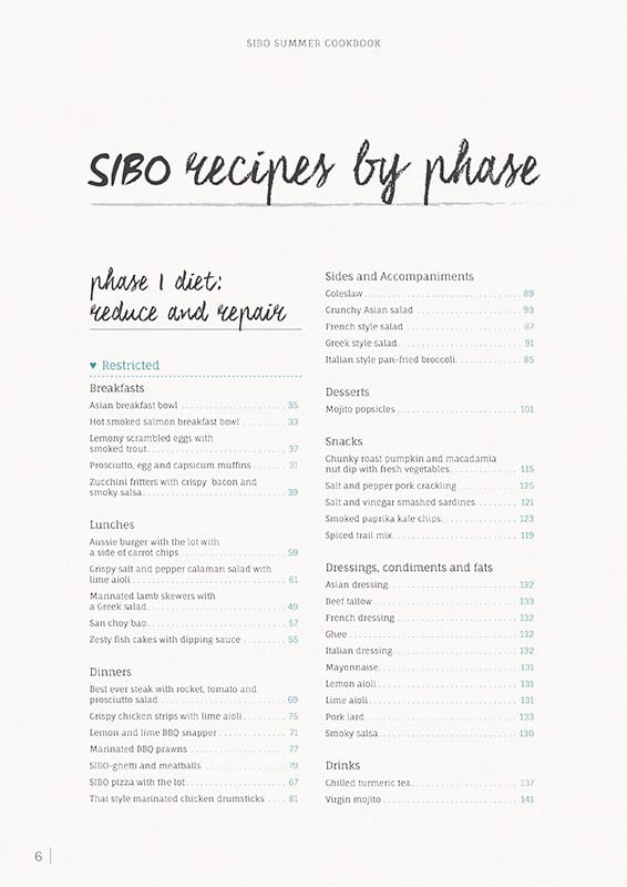 Sibo Summer Cookbook Recipes By Phase 1