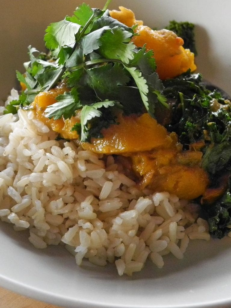 Thai Red Curry With Pumpkin, Eggplant And Kale Recipe 786x1048