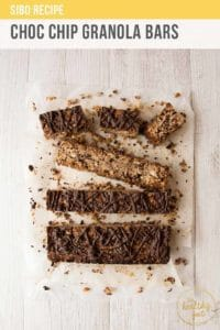 Choc Chip Granola Bars Pt