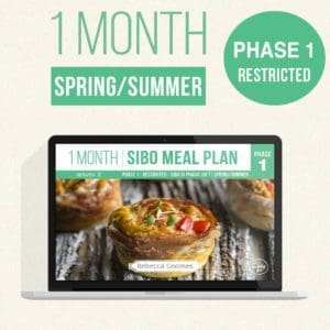 Monthly Sibo Meal Plans Covers Spring Summer