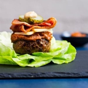 Cheese And Bacon Burger Recipe 800x800