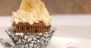 Moist Banana Cup Cakes With Lemon Frosting Recipe Fb