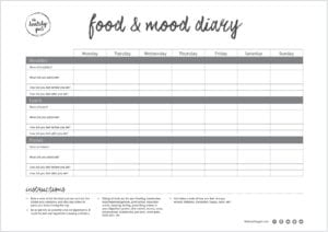 Thg Food & Mood Diary Border