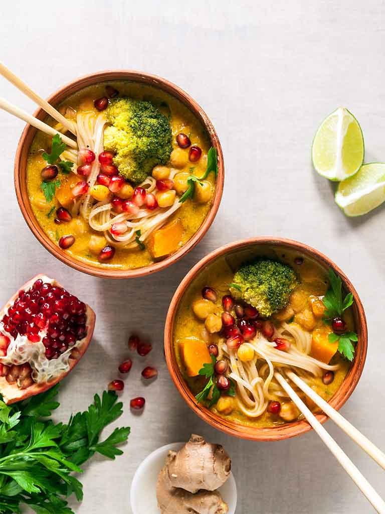 Broccoli And Pumpkin Curry Noodle Soup Recipe 786x1024
